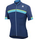 Sportful Pista Jersey Men blue twilight/electric blue/yellow